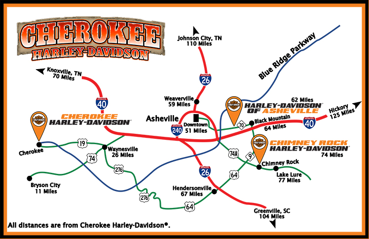 Asheville Map Cherokee HD Web